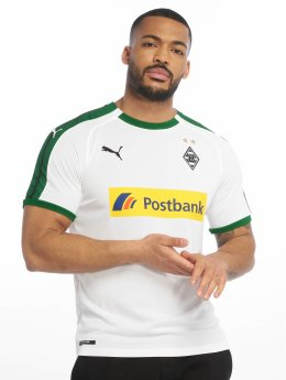 Puma Performance Soccer Jerseys BMG Home Replica Sponsor Logo white