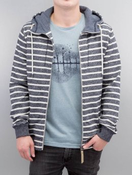 Ragwear Zip Hoodie Marty Stripes Organic blue