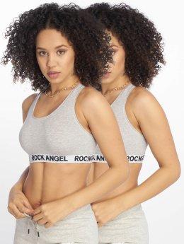 Rock Angel Sports Bra Double Pack Logo gray