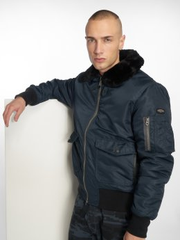 Schott NYC Winter Jacket O'hara blue