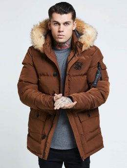 Sik Silk Parka Puff brown