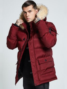 Sik Silk Parka Puff Parka red