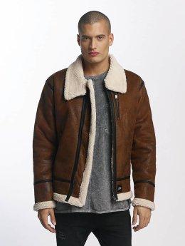 Sixth June Leather Jacket Regular Aviator brown