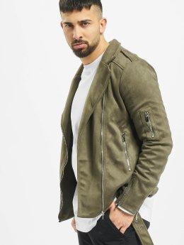 Sixth June Leather Jacket Transition khaki