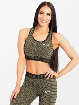 Smilodox Sports Bra Scale green