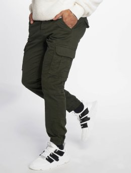 Solid Cargo pants Galo green
