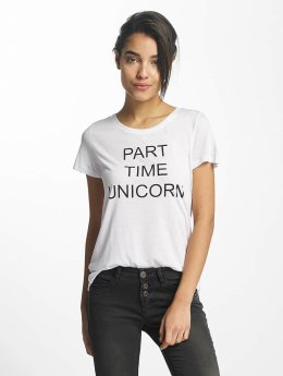 Sublevel T-Shirt Part Time Unicorn white