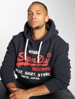 Superdry Hoodie Shop Duo blue