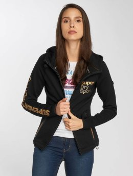 Superdry Zip Hoodie Gym Tech Golden Medal black