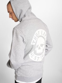 Thug Life Basic Hoodie Basic Skull gray