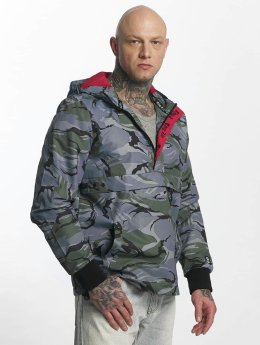 Thug Life Threat Jacket Grey/Black Camouflage