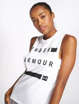 Under Armour Tank Tops Graphic Muscle white