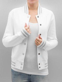 Urban Classics College Jacket Ladies Metallic white