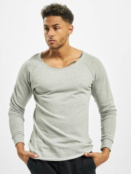 Urban Classics Pullover Long Open Edge Terry gray