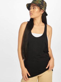 Urban Classics Tank Tops Ladies Loose black