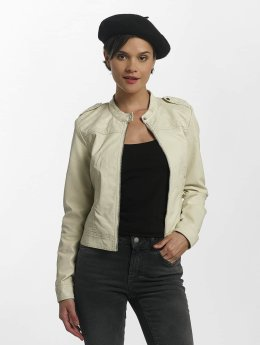 Vero Moda Leather Jacket vmAlice Short Faux Leather beige