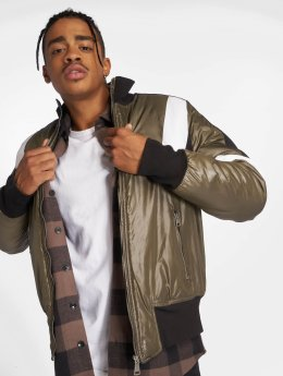 Who Shot Ya? Colorblock Jacket Olive