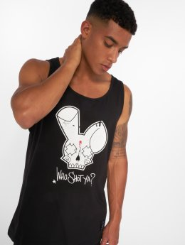 Who Shot Ya? Tank Tops Grunge black