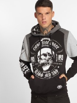 Yakuza Hoodie Skull Tri Face black