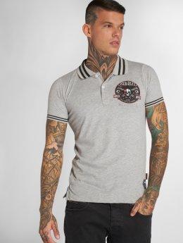 Yakuza Poloshirt Pretty Far gray