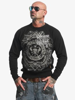 Yakuza Pullover Inked In Blood black