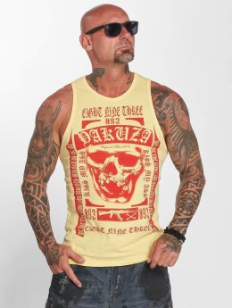 Yakuza Tank Tops Kiss My XXX yellow