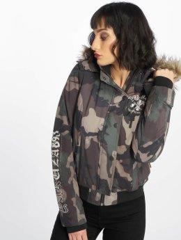 Yakuza Winter Jacket Lily Teddy camouflage