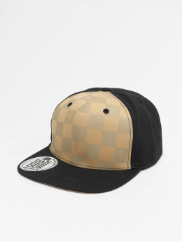 Dangerous DNGRS Plaid Snapback Cap Brown