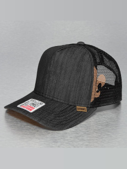 Djinns Trucker Cap Linen 2014 High Fitted black