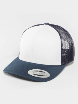 Flexfit Trucker Cap Retro Colored Front blue