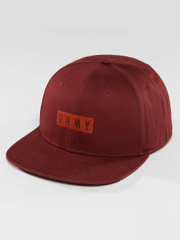 Grimey Wear Snapback Cap Overcome red