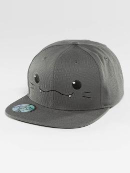 Just Rhyse Snapback Cap Kawaii Cat gray