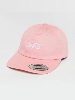 Merchcode Snapback Cap Coca Cola Logo pink