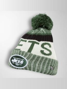 New Era Winter Hat On Fiel NFL Sport NY Jets green