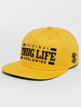 Thug Life Snapback Cap Anaconda yellow