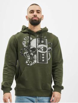 Aarhon Hoodie Skull II khaki