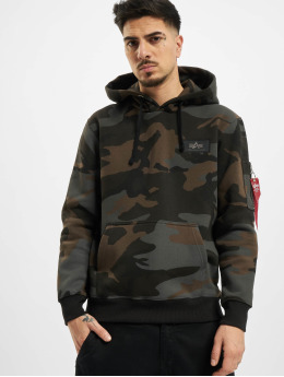 Alpha Industries Hoodie Back Print Camo  black