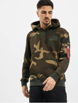 Alpha Industries Hoodie Back Print Camo  camouflage