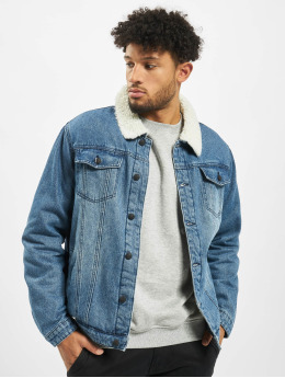 Brandit Denim Jacket Sherpa  blue