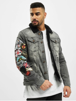 Cipo & Baxx Denim Jacket Stitch  gray