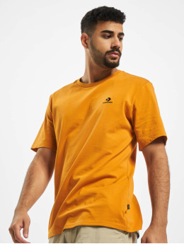 Converse T-Shirt Embroidered SC Left Chest orange