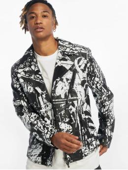 De Ferro Leather Jacket Classic X Graffiti black
