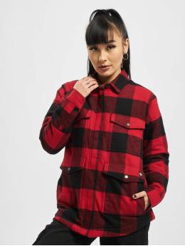 Dickies Lightweight Jacket Plaid Sherpa Chore red
