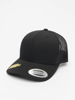 Flexfit Trucker Cap Recycled Poly Twill With Recycled Poly Mesh black