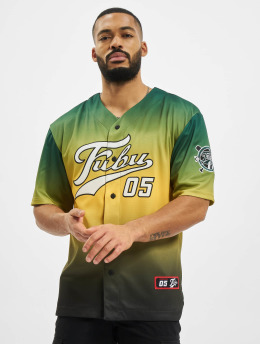 Fubu Shirt Varsity Baseball green