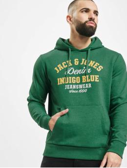 Jack & Jones Hoodie jjeLogo  green