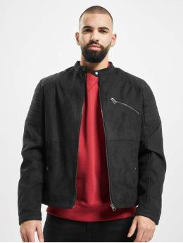 Jack & Jones Leather Jacket jprRick  gray
