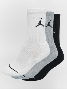 Jordan Socks 3 Pack Cotton Crew black