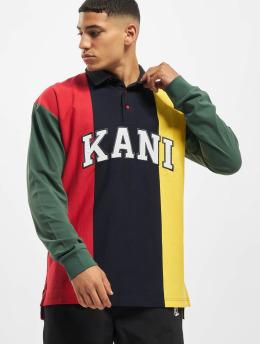 Karl Kani Longsleeve Kk College Block Rugby  blue