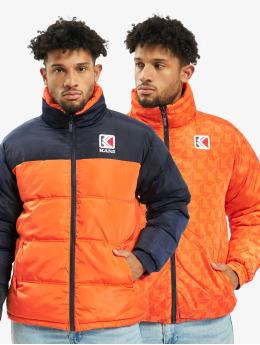 Karl Kani Puffer Jacket Retro Reversible orange